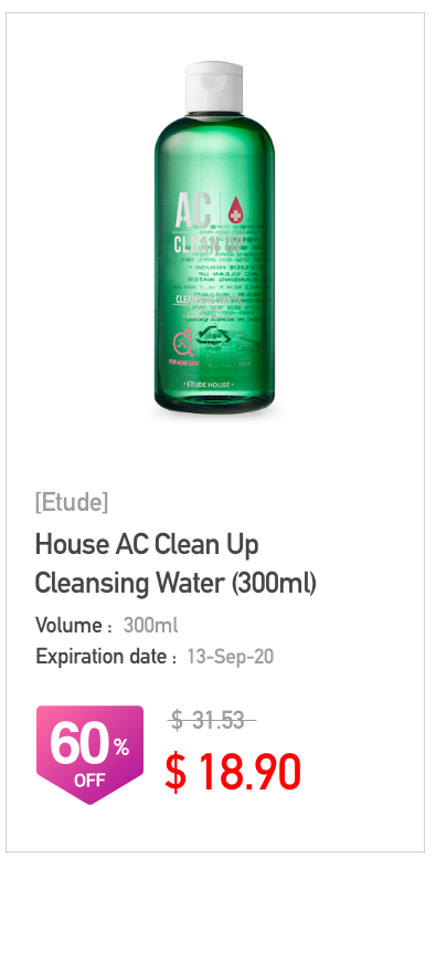 Etude House AC Clean Up Cleansiong Water 300ml